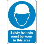 Mandatory Safety Sign - Safety Helmets Must 132
